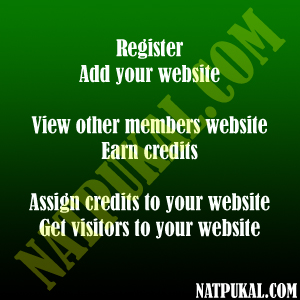 Register, Add Your Website, View other Members Website, Earn Credits, Assign Credits to Your Website, Get Visitors to Your Website...